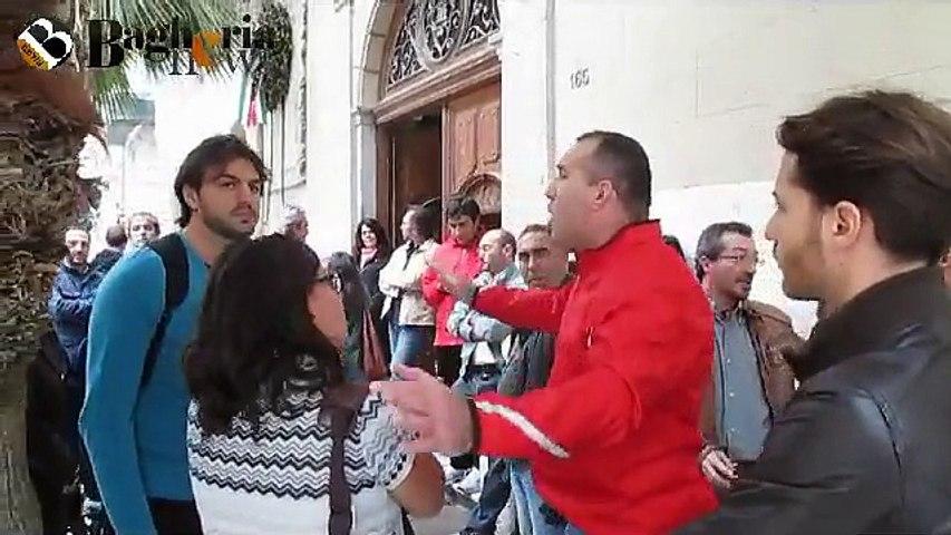 Protesta contrattisti comunali