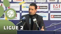 Conférence de presse FC Sochaux-Montbéliard - Clermont Foot (1-0) : Olivier ECHOUAFNI (FCSM) - Corinne DIACRE (CF63) - 2014/2015