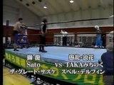 The Great Sasuke, Sato, Shiryu vs Super Delfin, TAKA Michinoku, Gran Naniwa Michinoku Pro)
