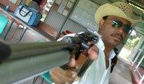 Yannis MALAHËL l'Homme aux Revolvers & Santiags dit Justicier-du-Net Entrainement Tir-Sportif Fusil Plomb Air-Comprimé Association Sportive AS Police Stand Agréé ACAPI 2ème Entrée Droite Rond-Point Aéroport Pôle Caraïbe Abymes Guadeloupe
