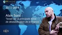 Alain Soral sur la résolution de reconnaissance de l'Etat palestinien et le pouvoir du CRIF en France – IRIB, 30/11/2014