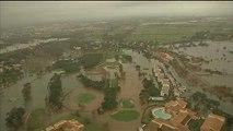Pyrénées-Orientales: impressionnantes images aériennes de quartiers entièrement inondés