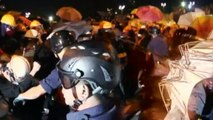 Hong Kong protesters clash with police at government HQ