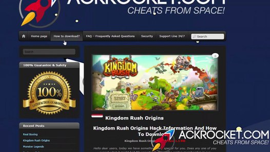 Kingdom Rush Origins Hack Tool [Cheats/Pirater][Android/iOS]
