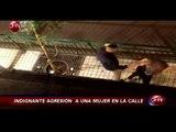 Rescatan a mujer que sufrió brutal golpiza en plena vía pública - CHV Noticias