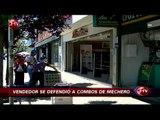 Vendedor de zapatos evitó robo de mechero con golpes - CHV Noticias