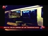 Combos y patadas: Pasajeros de Transantiago protagonizaron agresiva pelea - CHV Noticias