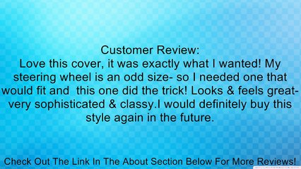 Genuine Leather Custom Designer Steering Wheel Cover With Subtle Padded Side for Increased Grip and Comfort, Size: Medium, Color: Medium Gray (5) Review
