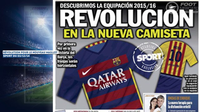 Le nouveau maillot révolutionnaire du Barça, la presse anglaise dégomme Balotelli !