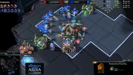 Happy (T) vs. MaNa (P) - MyStarCraft Arena #1 powered by Dailymotion StarCraft II Heart of the Swarm