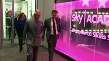 Prince Charles and Camilla visit Sky Academy