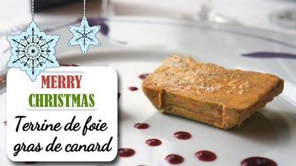 Terrine de foie gras de canard et confit de fruits - Recette Noël