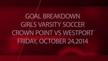 Girls Soccer - Crown Point Panthers vs Westport Eagles 10-24-14 - Goal Breakdown