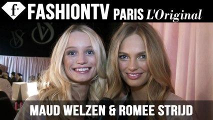 Victoria's Secret Fashion Show 2014-2015 BACKSTAGE:  Maud Welzen & Romee Strijd Exclusive Interview | FTV.com