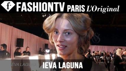 Victoria's Secret Fashion Show 2014-2015 BACKSTAGE: Ieva Laguna Exclusive Interview | FTV.com