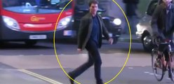 Tom Cruise Nearly Hit By London Bus While Crossing The Road, Tom Cruise Avoids Bus Accident