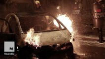 Greek anarchists torch cars, clash with Athens police