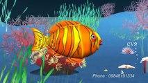Machli jal ki rani hai  - Fish 3D Animation Hindi Nursery rhymes for children (