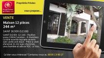 A vendre - maison - SAINT DIZIER (52100) - 12 pièces - 244m²