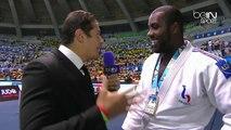 Vincent Parisi interview Teddy Riner au Championnat du Monde après le sixièmes titres mondial sur Beinsports.