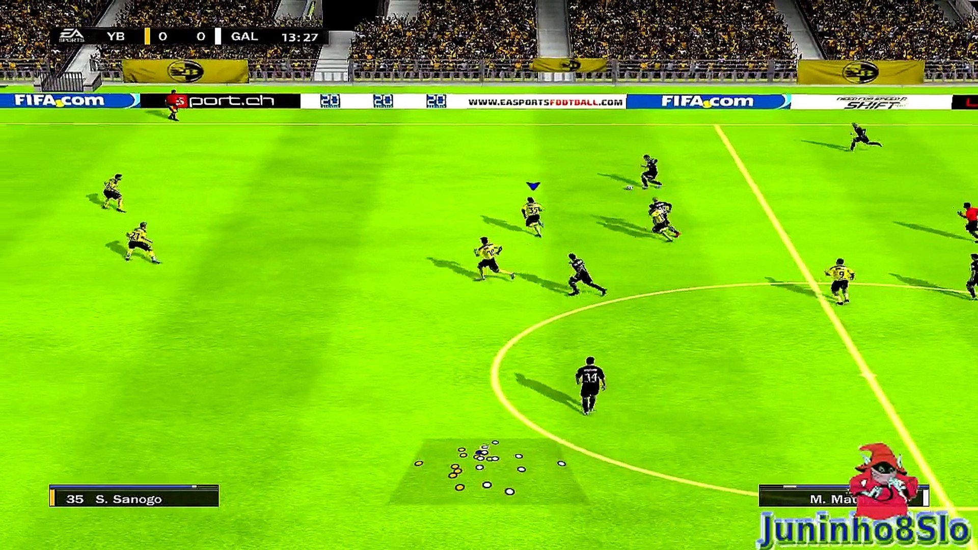Fifa 10-Manager Mode-BSC Young Boys vs FC St.Gallen-Game 48