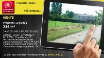 A vendre - propriété - SAINT SEURIN SUR L ISLE (33660) - 10 pièces - 234m²