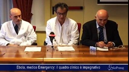 Ebola, medico Emergency: il quadro clinico è impegnativo