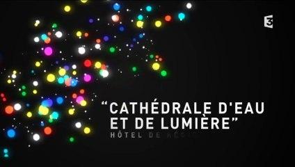 Fête des lumières 2014 : Cathédrale d'eau et de lumière, Hôtel de région