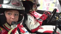 L'équipage Sébastien et Séverine Loeb au Rallye du Var