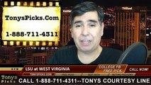 West Virginia Mountaineers vs. LSU Tigers Free Pick Prediction NCAA College Basketball Odds Preview 12-4-2014