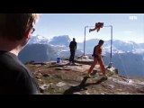 Norwegian Father Stunts On A Cliff Edge, And It Goes Horribly Awry