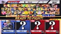 Sheik VS Little Mac In A Super Smash Bros. For Wii U Match / Battle / Fight