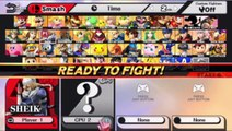 Sheik VS Captain Olimar VS Character In A Super Smash Bros. For Wii U Match / Battle / Fight