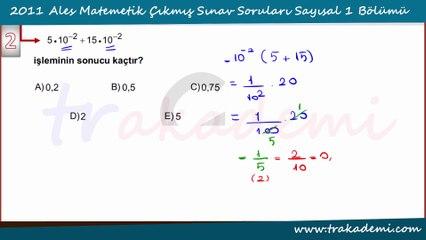 2011 Ales Çıkmış Sorular ve Çözümleri Bölüm 1