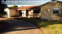 Single Family For Sale: 4650 SW 133 AV Miami, FL $309900