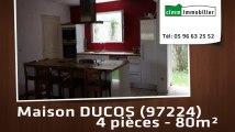 A vendre - maison/villa - DUCOS (97224) - 4 pièces - 80m²