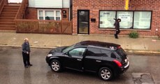 Poorly Attempted HIT and RUN.... Cab Drive Gets Revenge!!!!!  Driver Smashes six Cars