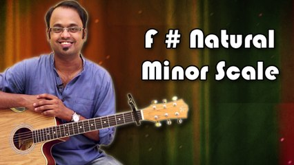 How To Play - F Sharp Natural Minor Scale - Guitar Lesson For Beginners