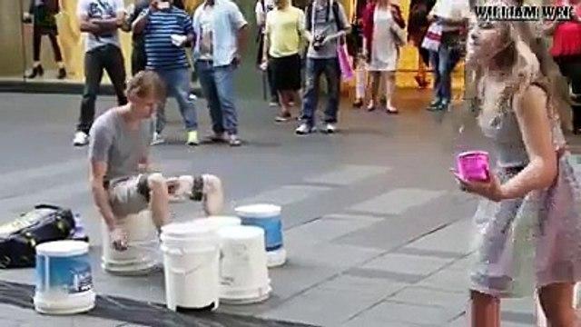 street art.| street drum. | amazing street drummer