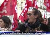 Manifestations de chômeurs et de précaires pour l'emploi