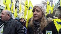 Paris: manifestation de chômeurs et de précaires pour l'emploi