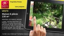 A vendre - maison - PONTENX LES FORGES (40200) - 6 pièces - 130m²