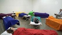 Marina Abramovic: Sleeping Exercise. Fondation Beyeler at Art Basel Miami Beach 2014