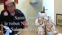 Saint-Quentin : le robot Nao lit des contes au Salon du livre de Noël