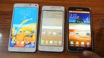 Samsung Galaxy Note 4 vs Samsung Galaxy Grand Prime vs Samsung Galaxy S5 Display Comparison-HD