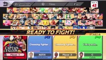 Super Smash Bros. For Wii U Online Wi-Fi Team Battle - Playing As Captain Falcon