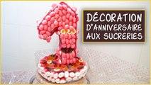 Décoration d'anniversaire aux sucreries