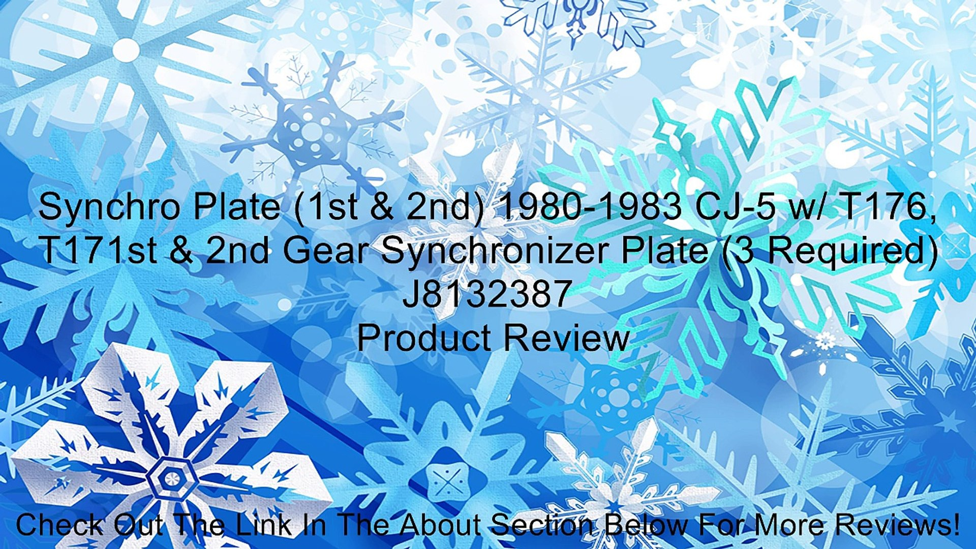 1st /& 2nd Synchro Plate 3 Required J8132387 1980-1983 CJ-5 w// T176 T171st /& 2nd Gear Synchronizer Plate