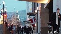 Le père Noël n'a jamais été aussi en forme : le voilà qui fait du breakdance dans la rue !
