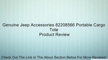 Genuine Jeep 82208566 Portable Cargo Tote